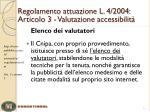 regolamento attuazione l 4 2004 articolo 3 valutazione accessibilit