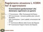 regolamento attuazione l 4 2004 iter di approvazione1