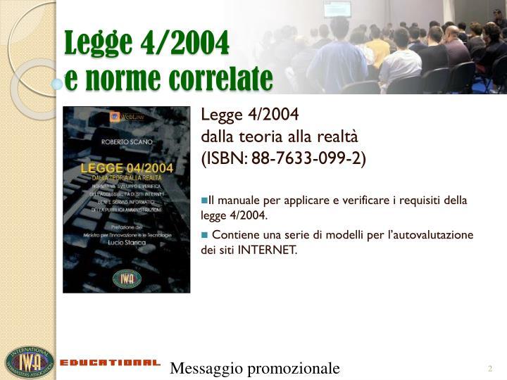 Legge 4/2004