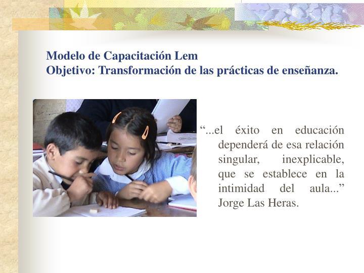 Modelo de Capacitación Lem