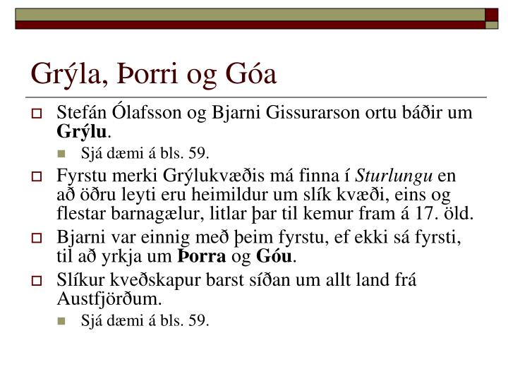 Grýla, Þorri og Góa