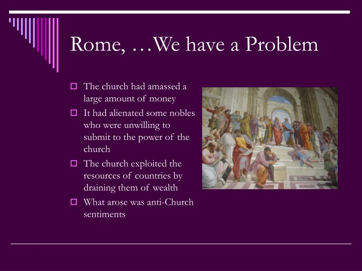 Rome, …We have a Problem