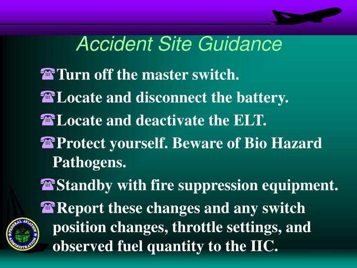 Accident Site Guidance