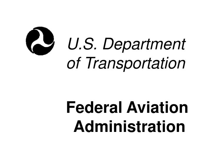 U s department of transportation