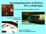 investigating time in fiction the 3 challenges