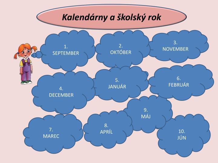 Kalendárny a školský rok