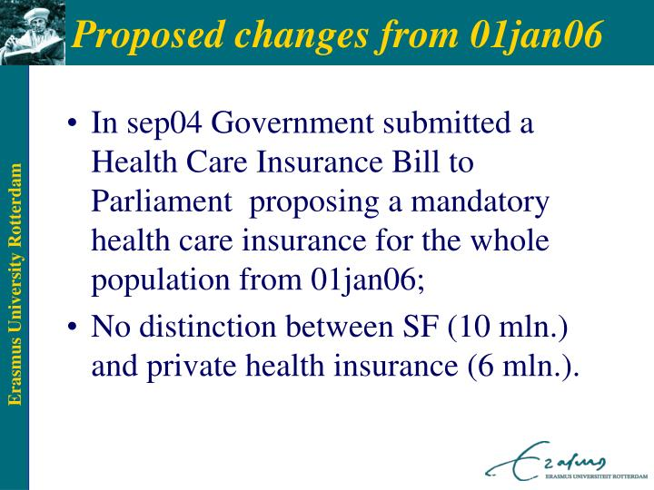 Proposed changes from 01jan06