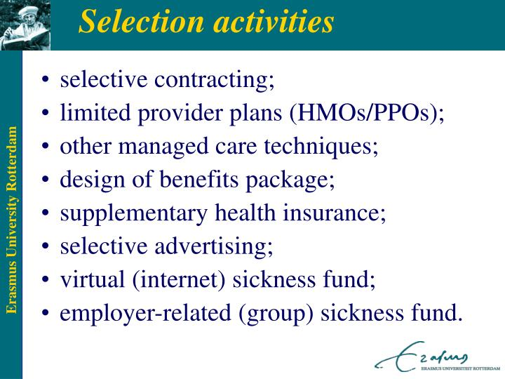 selective contracting;