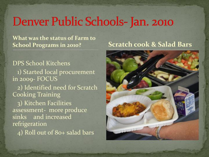 Denver Public Schools- Jan. 2010