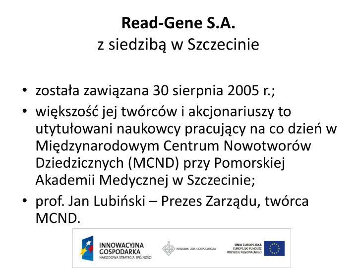 Read-Gene S.A.