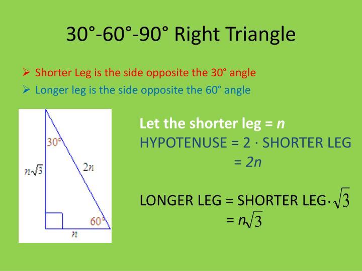 30°-60°-90° Right Triangle