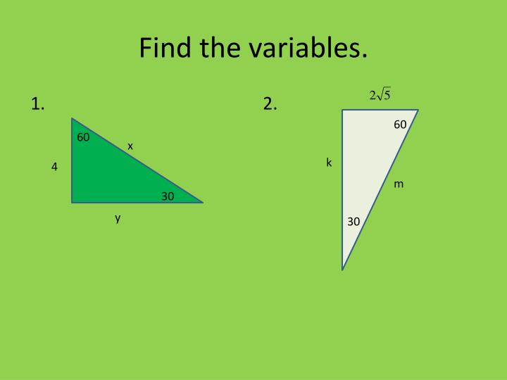 Find the variables.