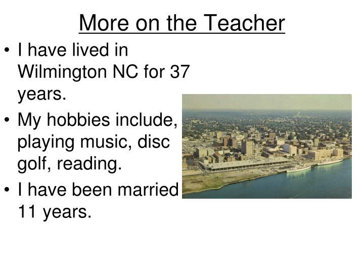 More on the Teacher
