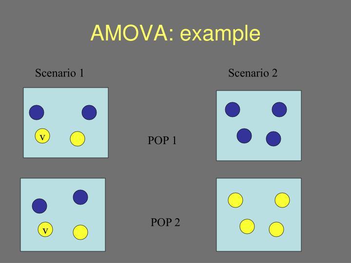 AMOVA: example