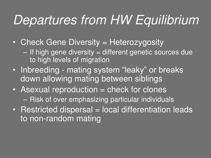 Departures from HW Equilibrium