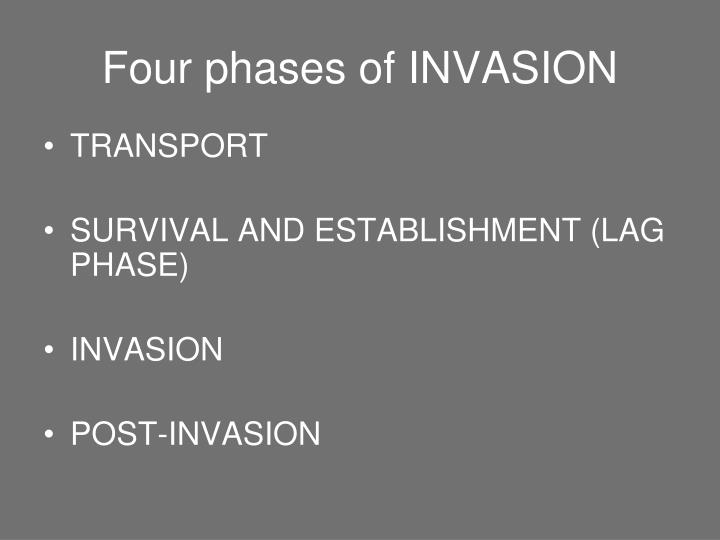 Four phases of INVASION