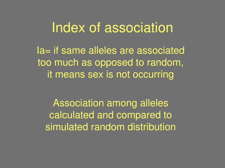Index of association