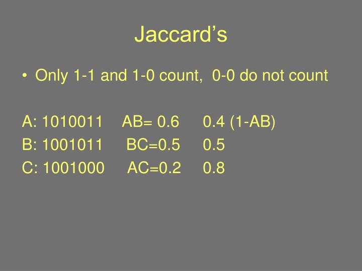 Jaccard's