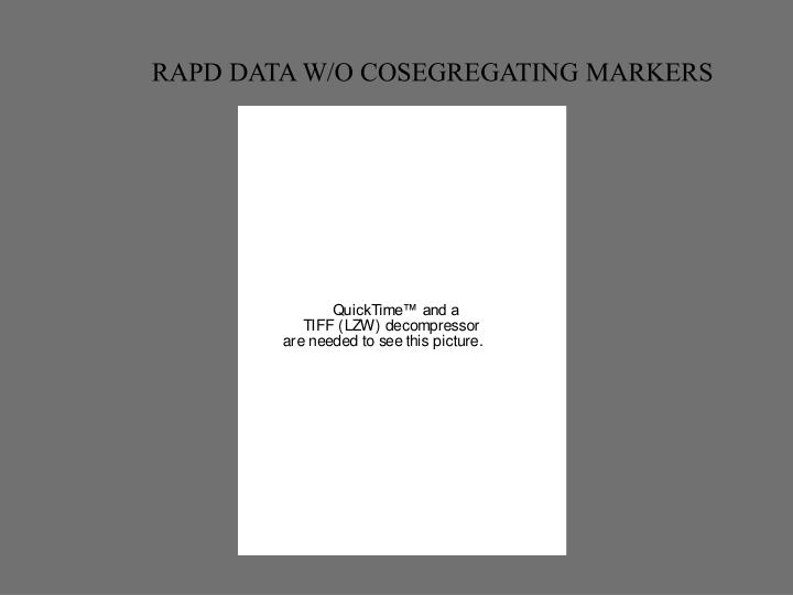 RAPD DATA W/O COSEGREGATING MARKERS