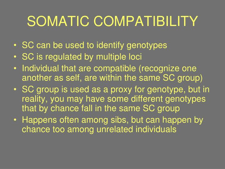 SOMATIC COMPATIBILITY
