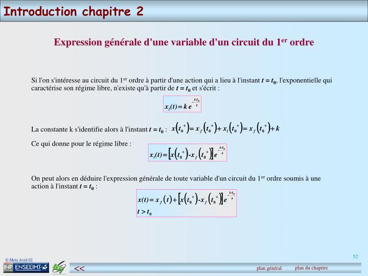 Introduction chapitre 2