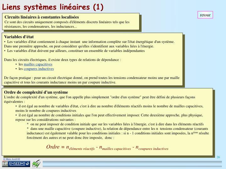 Liens systèmes linéaires (1)