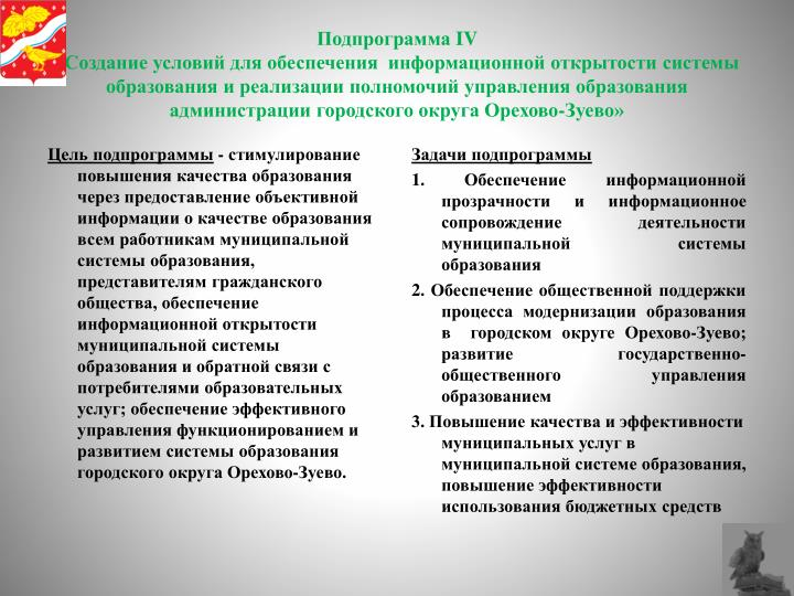 Подпрограмма