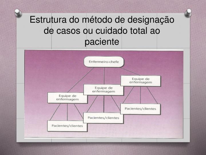 Estrutura do método de designação de casos ou cuidado total ao paciente