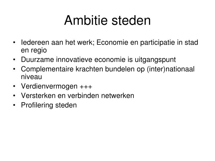 Ambitie steden