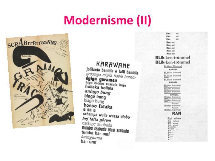 Modernisme (II)