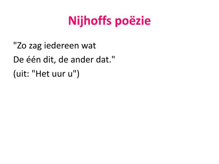 Nijhoffs poëzie