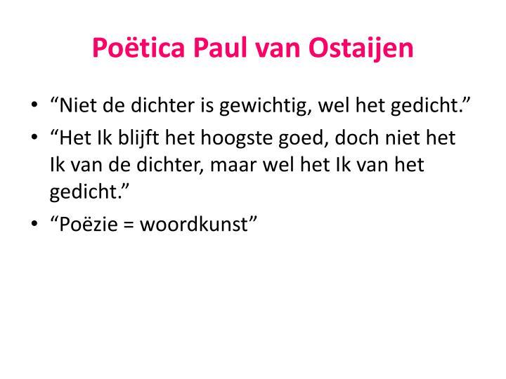 Poëtica Paul van Ostaijen