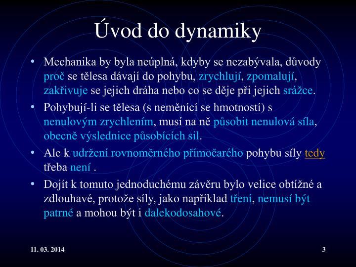 Úvod do dynamiky