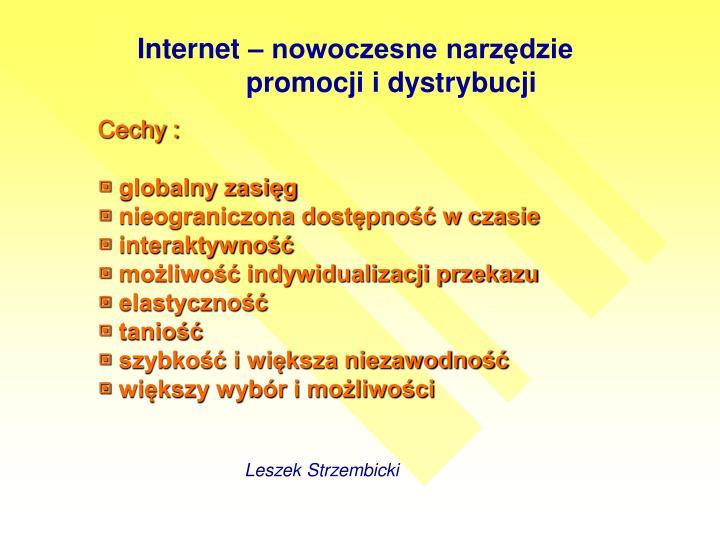Internet – nowoczesne narzędzie promocji i dystrybucji