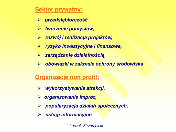 Sektor prywatny: