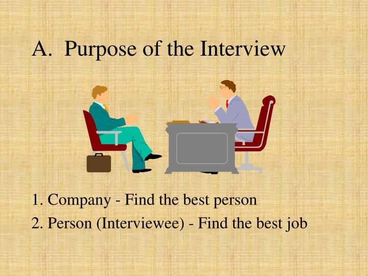 A purpose of the interview