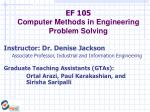 ef 105 computer methods in engineering problem solving