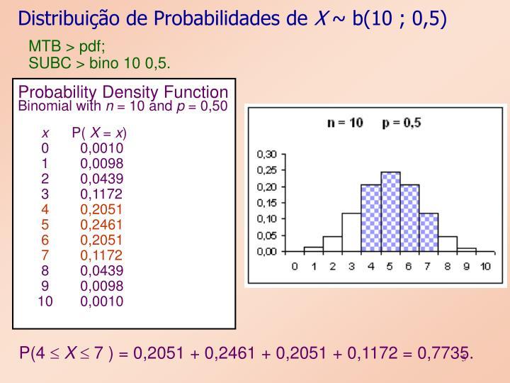 Distribuição de Probabilidades de