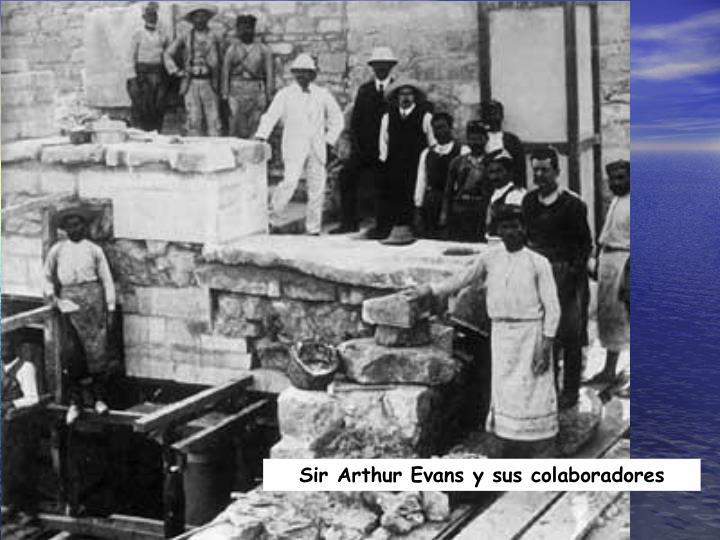 Sir Arthur Evans y sus colaboradores