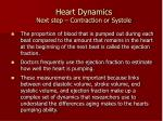 heart dynamics next step contraction or systole1