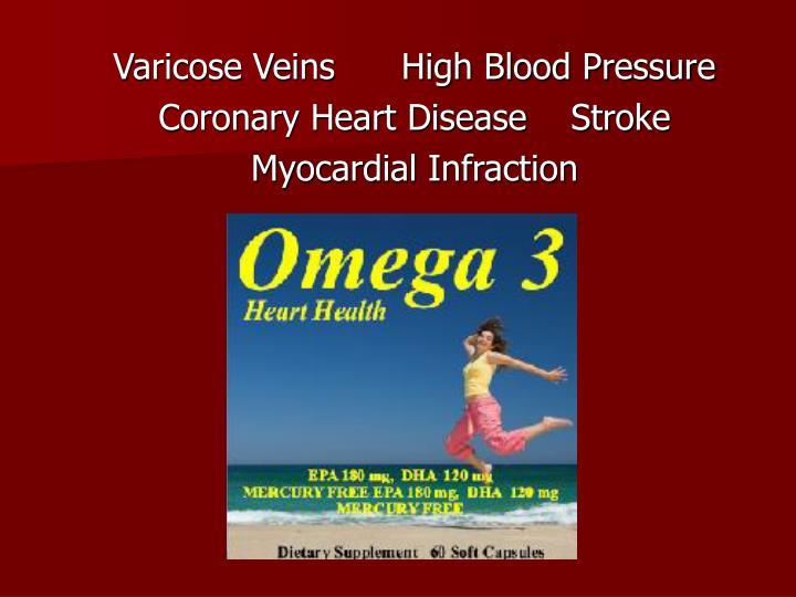 Varicose Veins      High Blood Pressure