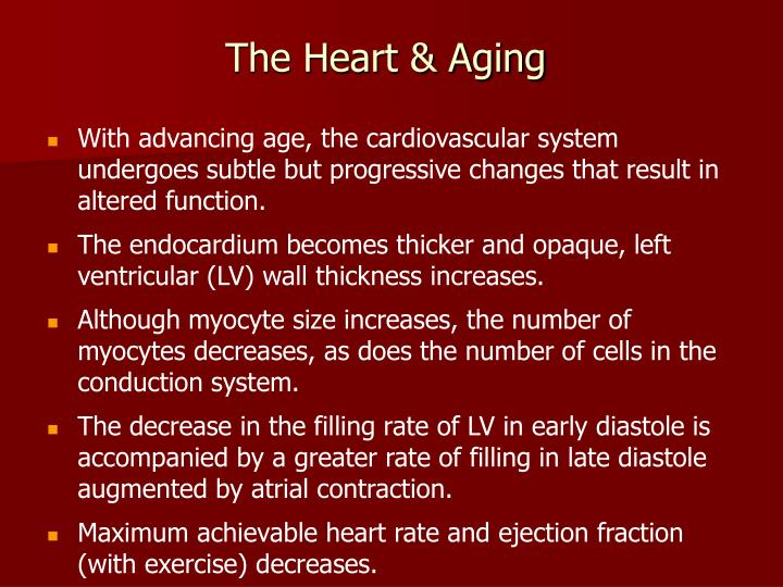 The Heart & Aging