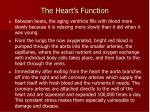 the heart s function1