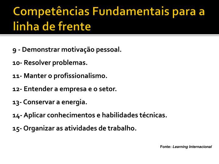 Competências Fundamentais para a linha de frente