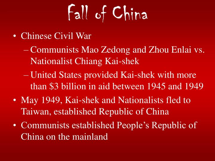 Fall of China