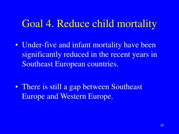 Goal 4. Reduce child mortality