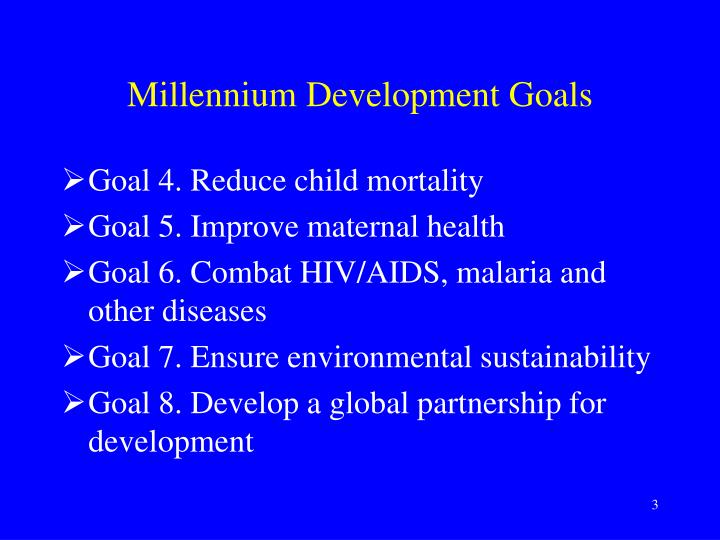 Millennium development goals1