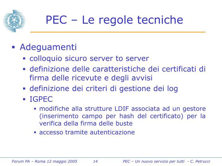 PEC – Le regole tecniche