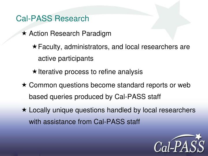 Cal-PASS Research