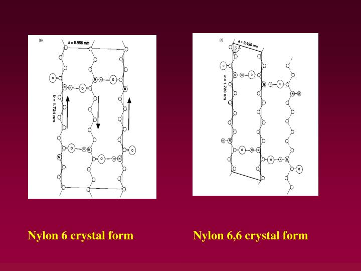 Nylon 6 crystal form